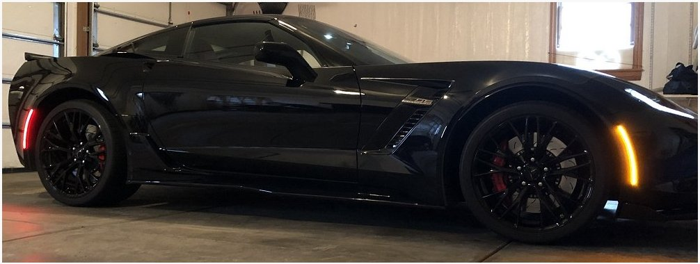 C7 Corvette Full Strip Led Blackout And Clear Side Markers