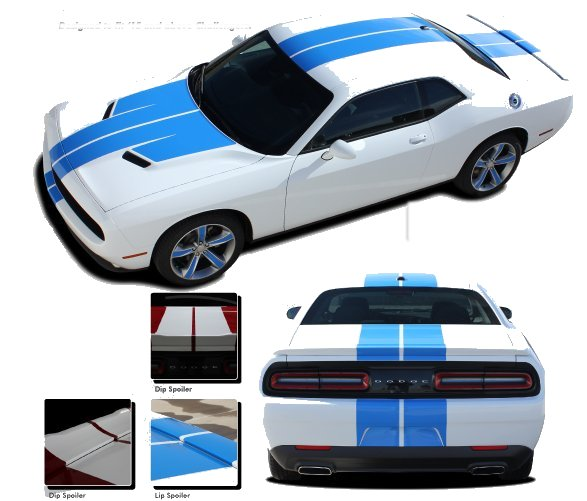 2015-2019 Dodge Challenger Wing Rally Stripe Kit