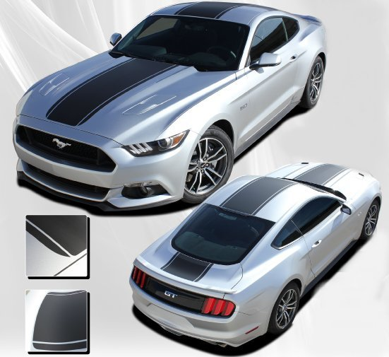 2015-2017 Ford Mustang Median Hood Roof and Deck Stripe Kit