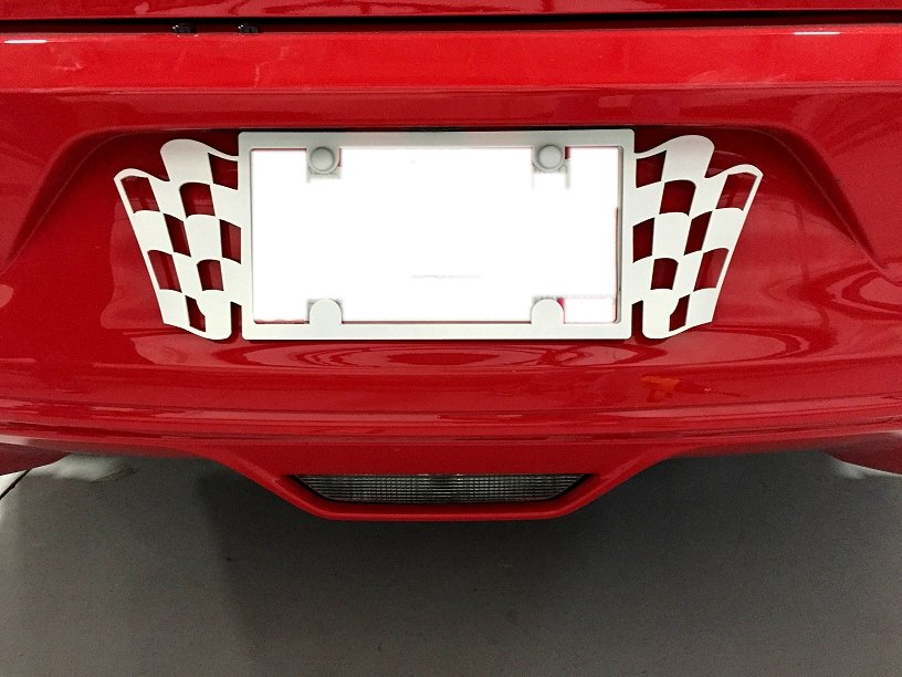 2015 2018 Mustang Painted License Plate Frame Rpidesigns Com