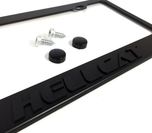 2015-2018 Hellcat Stealth Blackout License Plate Frame