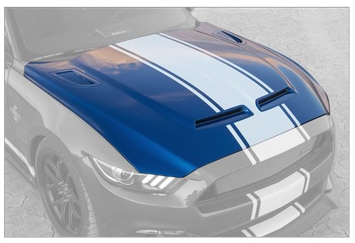 2015-2017 Ford Mustang Shelby 50th Anniversary Super Snake Hood