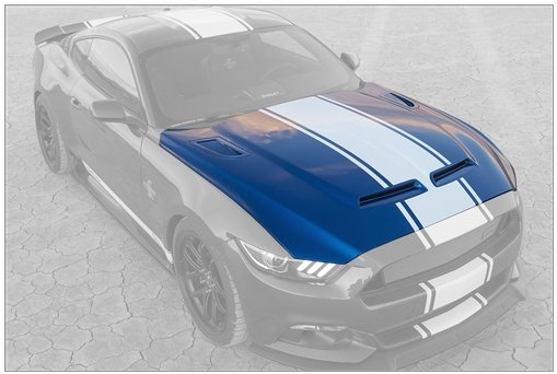 2015-2017 50th Anniversary Shelby Super Snake Hood
