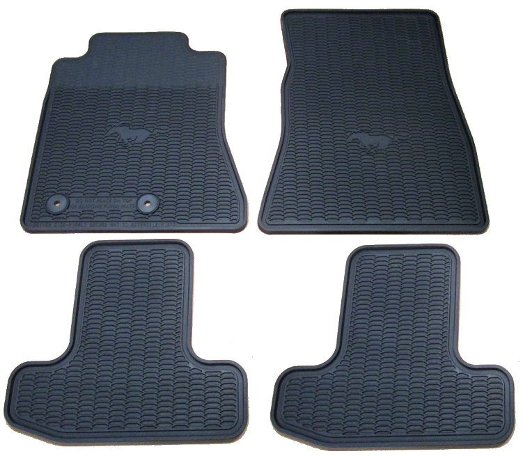 2015 2018 mustang all weather floor mats package for 1967 ford mustang floor mats