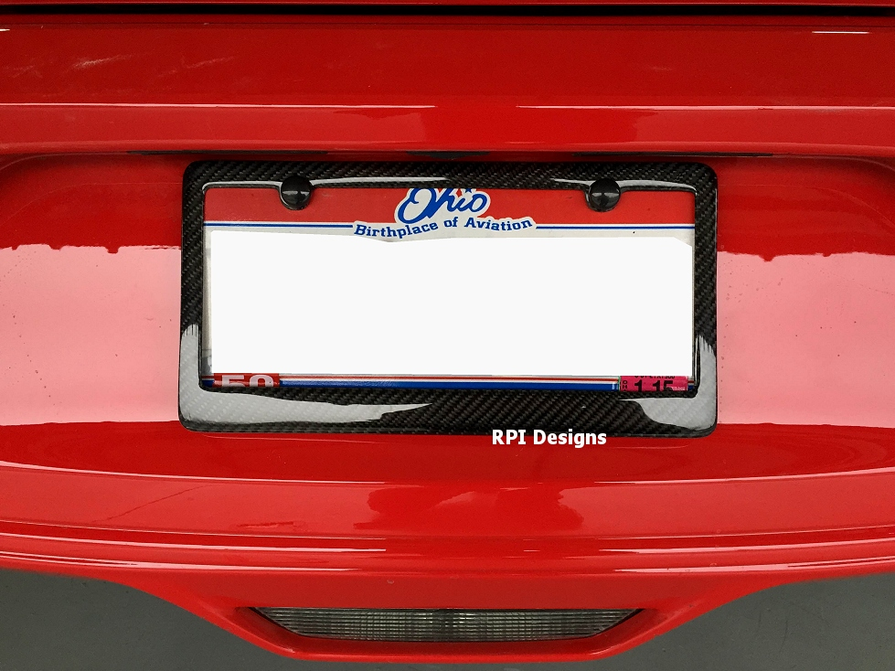 2015 2017 ford mustang real carbon fiber license plate frame