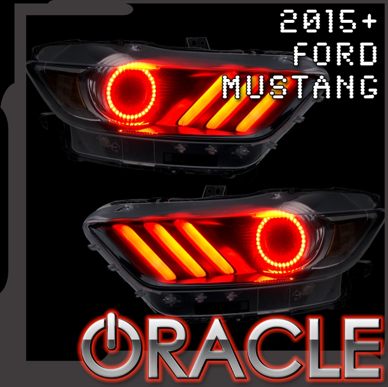2015 2017 ford mustang led headlight concept halo kit - 2016 Ford Mustang Concept
