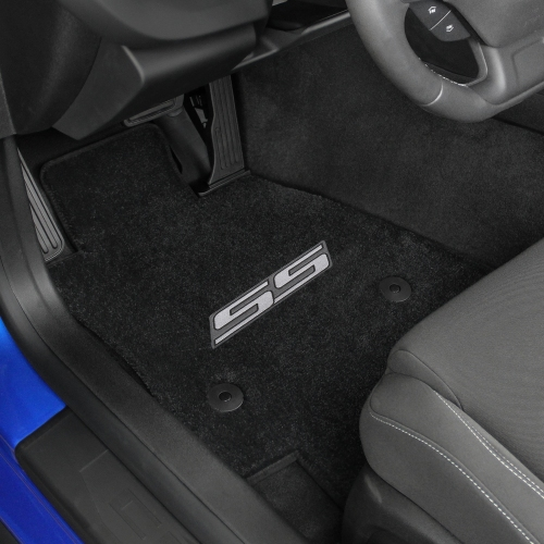 2016-2017 Camaro 6th Generation Lloyd Floor Mats Silver SS Logo