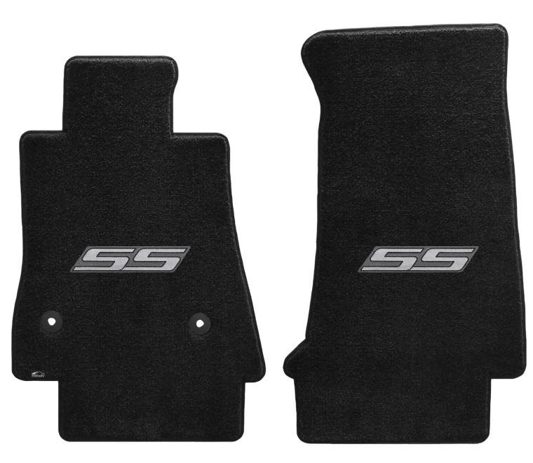 2016-2019 Camaro 6th Generation Lloyd Floor Mats Silver SS Logo