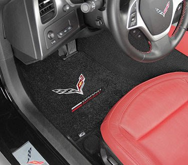 C7 Corvette Grand Sport Logo Embroidered Ultimats By Lloyd Floor Mats