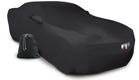 MODA Stretch Black Indoor Car Cover 2010-2015 Camaro Car Cover with Bag and Logo