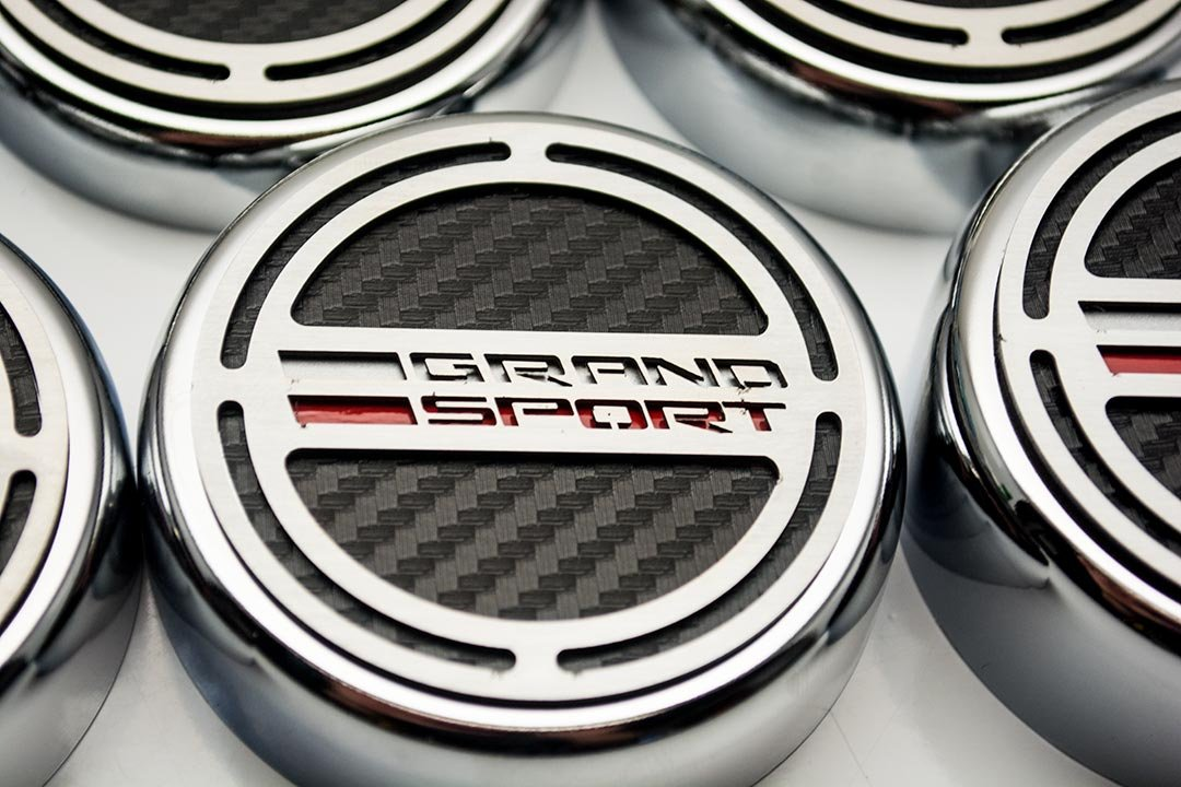 C7 Corvette Grand Sport Caps w/Grand Sport Carbon Fiber For Automatic