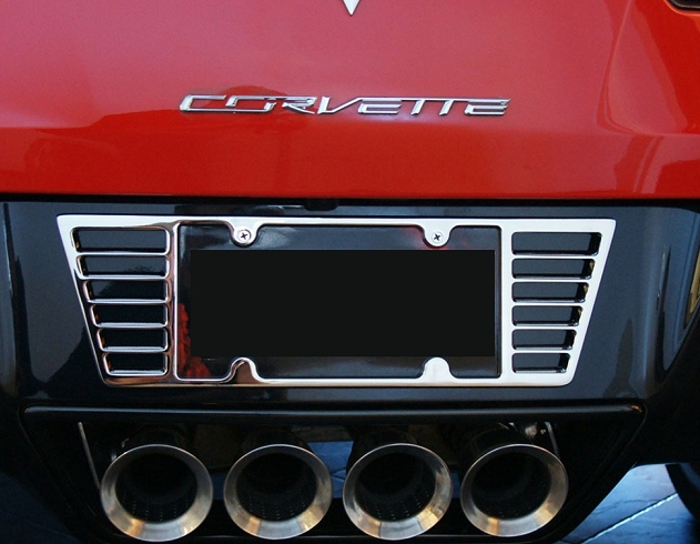 C7 Corvette Billet Rear License Plate Frame Rpidesigns Com