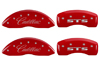 2005-2010 Cadillac STS MGP Caliper Covers Red