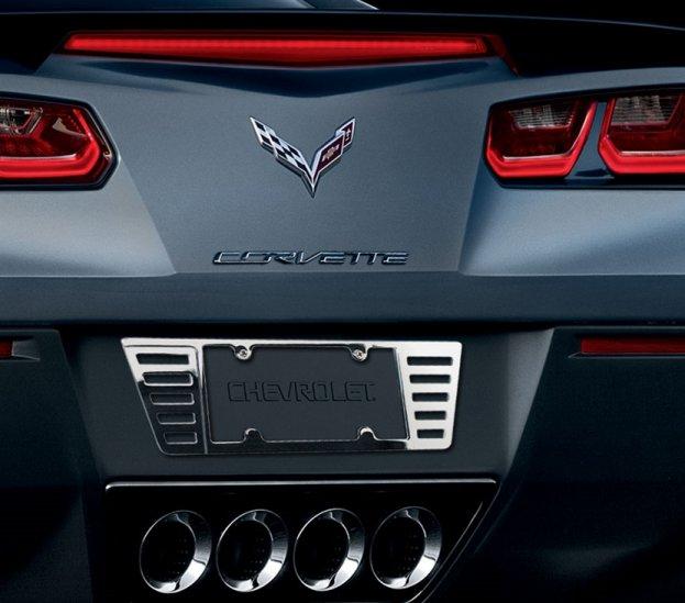 C7 Corvette Billet Chrome Rear License Plate Frame