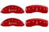 2006-2008 Lincoln Lincoln Star MGP Caliper Covers Red