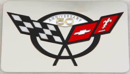 1997-2004 C5 Corvette Exhaust Plate 50th logo