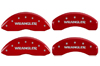 2007-2014 Jeep Liberty Wrangler MGP Caliper Covers Red