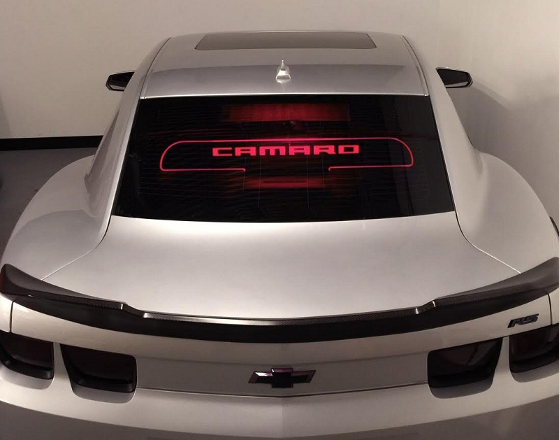 Camaro Windrestrictor Coupe Illuminated Glow Plate