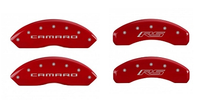 2016-2019 Camaro MGP Caliper Covers Red w/Camaro and RS Logos