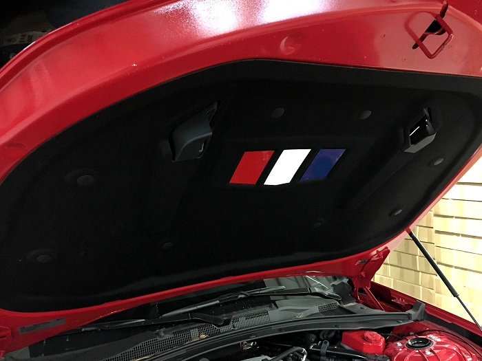 2016-2018 Camaro Hood Liner Under Hood Plates RED WHITE BLUE