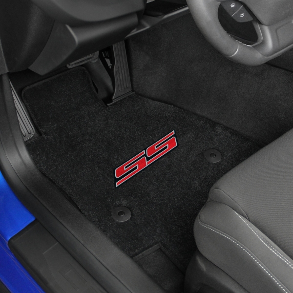 floor floors logo ss by seat lloyd ebony front velourtex camaro chevy for mats
