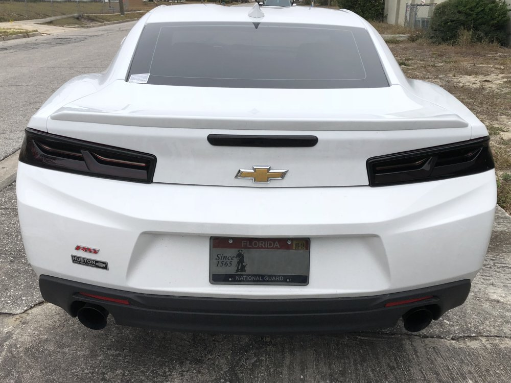 2016 2018 6th Generation Camaro 3 Piece Tail Light Blackout Kit