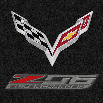 C7 Corvette Z06 Cargo Embroidered Trunk Mat Convertible Double Logo