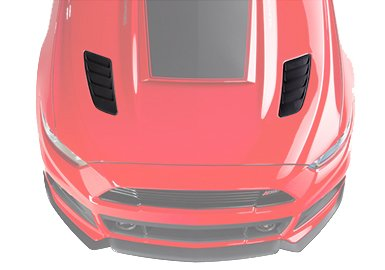 2015-2017 Ford Mustang ROUSH Painted Hood Heat Extractors