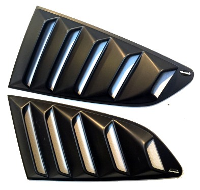 Ford Mustang Quarter Window Louvers by DefenderWorx ...