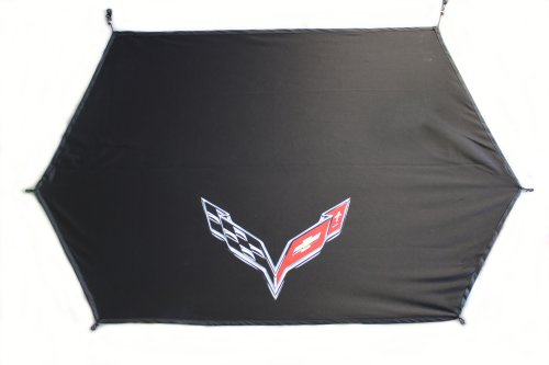 C7 Corvette Cargo Security Shade With Airbrushed Logo
