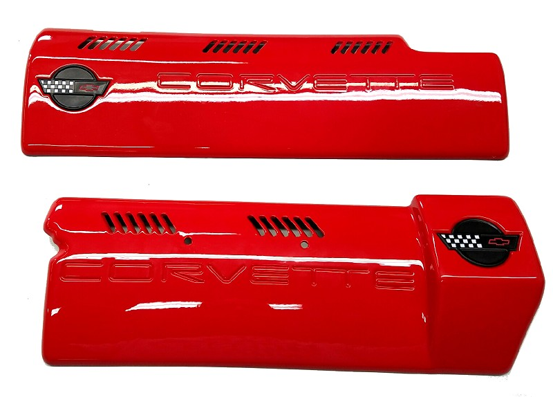C4 Corvette 1994-1996 LT1 Painted Fuel Rail Covers -Smooth