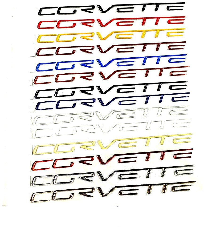 C6 Corvette Domed Dash Airbag Lettering Inserts Letters Kit