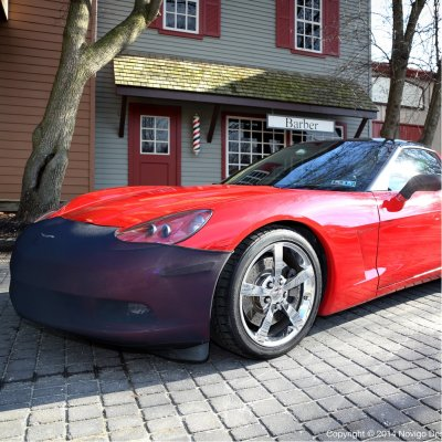 C6 Corvette Front Bumper Mask NoviStretch