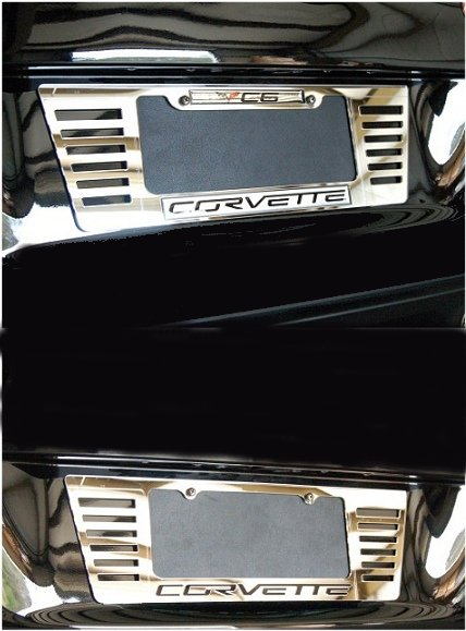 C6 Corvette License Frame