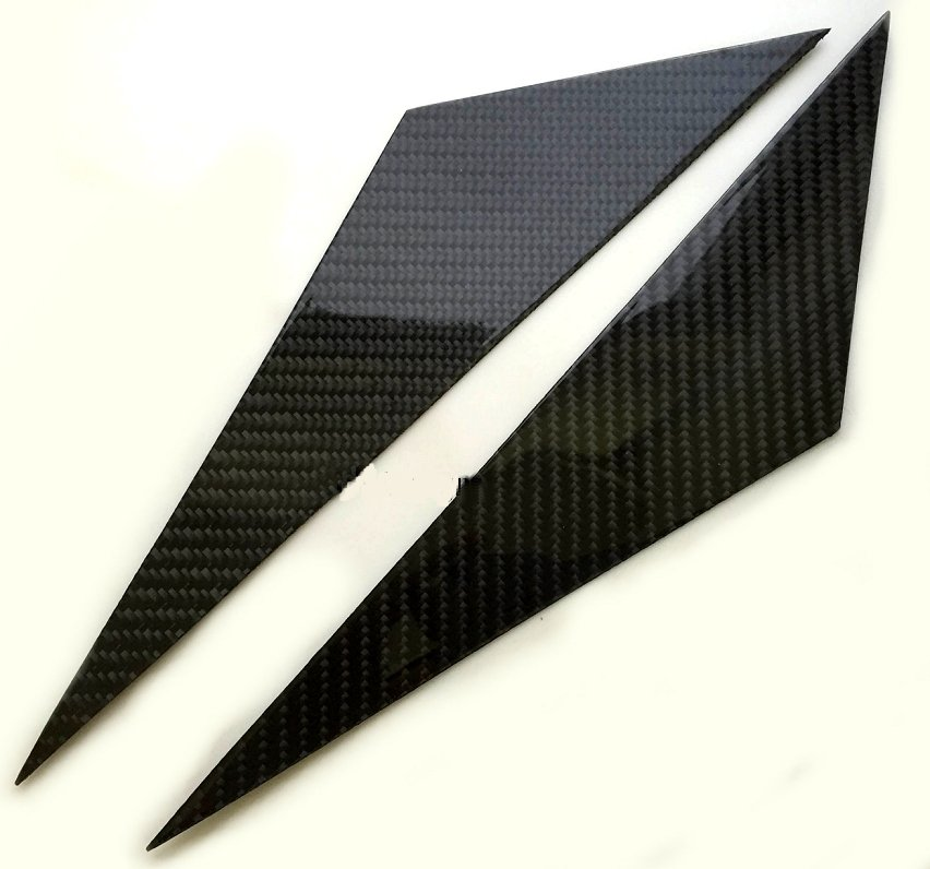 C6 Corvette Real Carbon Fiber A-Pillar Trim Set