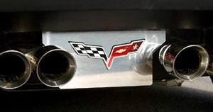 C6 Corvette Stainless Steel Exhaust Plate