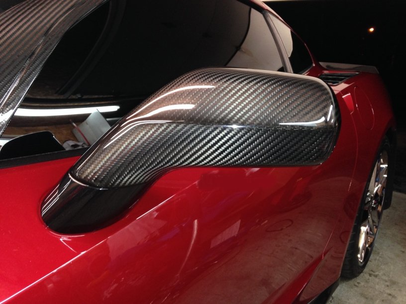 C7 Corvette APR Real Carbon Fiber Mirrors Housings