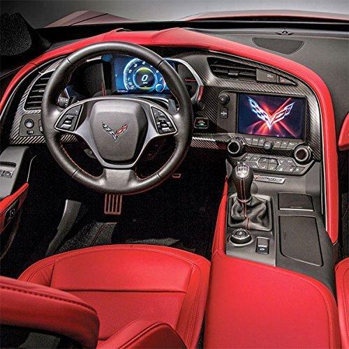 C Corvette Carbon Fiber Dash Cluster
