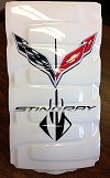 C7 Corvette Double Logo Airbrushed Plenum Cover