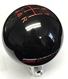 C7 Corvette Grand Sport Black Knob w/Red Pattern Grand Sport Logo