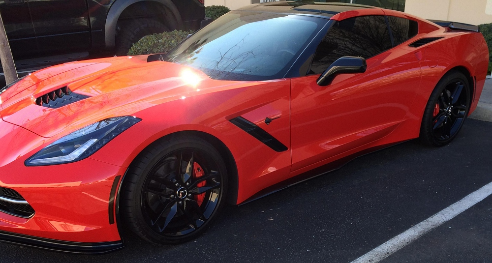 C7 Z06 Style painted  side skirts