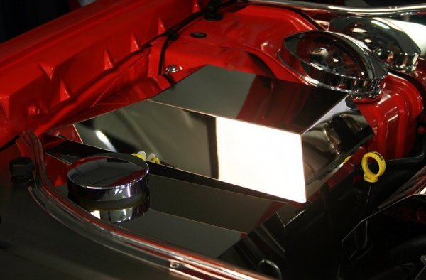 2008-2014 Challenger Polished Stainless Fuse Box Cover