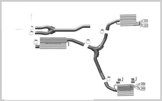 2009-2010 Challenger V6 Magnaflow Cat-Back Exhaust