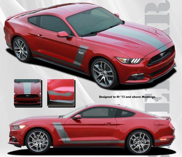 Black Mustang Silvers: Ford Mustang Stellar Stripe Kit