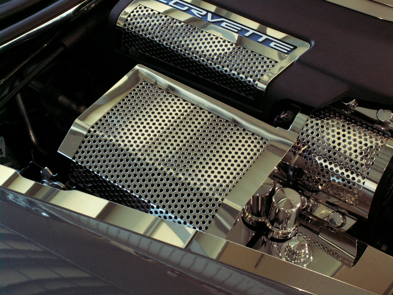 C6 Corvette Fuse Box Cover Perforated