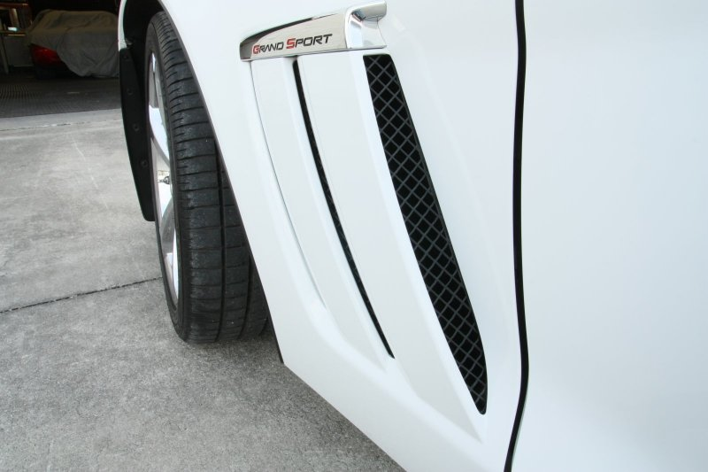 C6 Corvette Side Vent Grilles Blakk Stealth Grand Sport