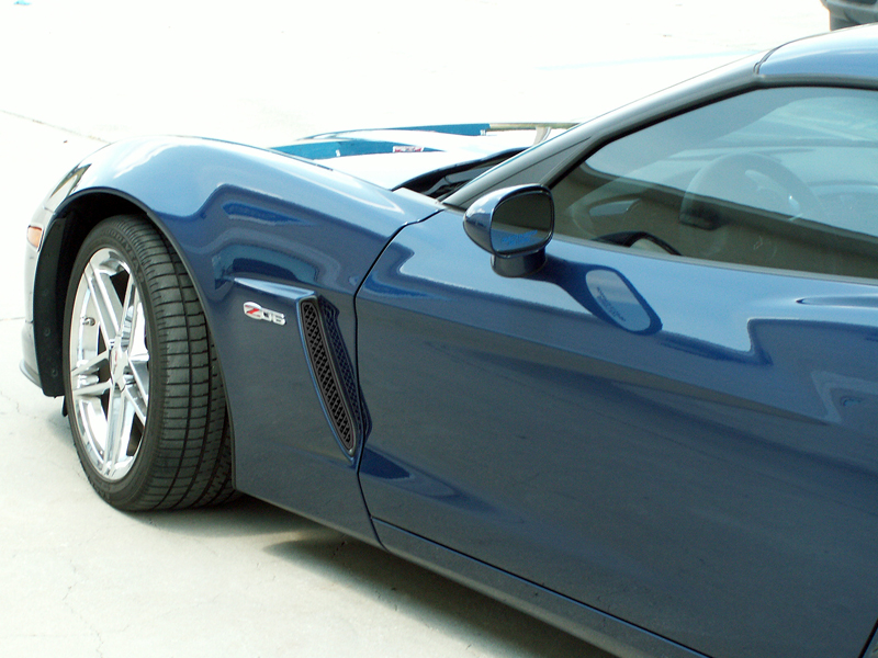 C6 Corvette Front Side Vents Z06 Blakk Stealth