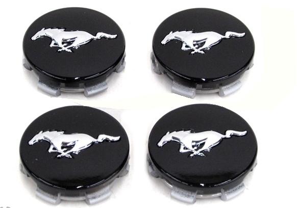 Ford Mustang Black Chrome Wheel Rim Center Caps Rpidesigns Com