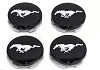 2015-2019 Ford Mustang Black Chrome Wheel Rim Center Caps