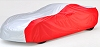 C7 Corvette Intro-Guard Silver and Red Car Cover With Flag Logo